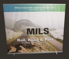 MILS large pull-up banner. Designed by Liquid Creative.