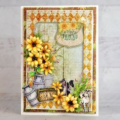 Heartfelt Creations - Playing in the Sunflowers
