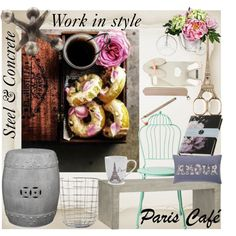 Work in Style by ayeshamaniktala on Polyvore featuring interior, interiors, interior design, home, home decor, interior decorating, Crate and Barrel, Williams-Sonoma, Sur La Table and Linea