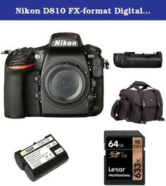 Nikon D810 FX-format Digital SLR Camera Body with 55-300mm Lens + Nikon MB-D12 Multi Battery Power Pack and Accessories. 36.3 MP FX-format CMOS sensor without an Optical Low Pass Filter (OLPF). MS-D12EN Li-ion Rechargeable Battery Holder for MB-D12 Battery Pack. Store, carry and protect your camera equipment. High-speed, Class 10 performance-leverages UHS-I technology for a read transfer speed up to 633x (95MB/s). Guaranteed to function like the Nikon original EN-EL15 for the Nikon 1 V1...