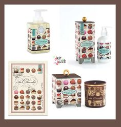 Who doesn't love the scent of chocolate?  Now your home can smell like everyone's favorite food group.  ;-)  Au Chocolat Michel Design Works Foaming Soap Lotion Candle Gift Chocolate