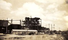 Florida Memory - Swift & Co. phosphate plant south of Ft. Fort Meade, Old Florida, Swift, City, Nature, Plants, Image, Flora, City Drawing
