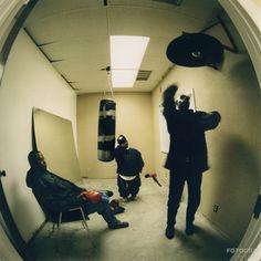 Geto Boys.  At Rap A Lot records HQ, Houston , Texas