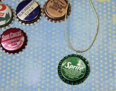 Lots of crafts, activities, and recipes for kids, including this Bottle Cap Necklace {Craft Camp}