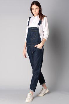 Salopette overalls indigo Bleu Levi's sur MonShowroom.com