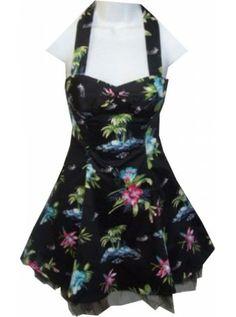 Palm Print [Black]   DRESS - H&R