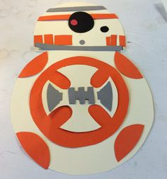 Custom BB8 party craft. The BB8 party craft is made out of card stock paper. You will receive a BB8 silhouette with different paper pieces. The pieces can be glued to the silhouette to create BB8. This party craft comes in an 8 pack. This craft is great to keep kids busy during your Star Wars themed party. Or the craft would make a great party bag favor. Either way the BB8 craft will be a hit at your childs party. Please allow enough time for me to make it and ship it to you in time for you…