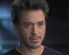 Robert Downey Jr. and his shiny anime eyes.