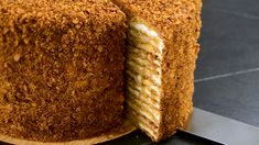 Best Medovik Recipe- Russian Honey Cake - How to make - - Medovik is a classic Russian honey cake made with layers upon layers of honey biscuit and whipped sour cream. It's simple in its structure, but complex in its taste! Russian Honey Cake, Russian Cakes, Russian Desserts, Russian Recipes, Russian Pastries, Honey Cake Recipe Easy, Honey Recipes, Easy Cake Recipes, Frosting Recipes
