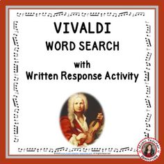 VIVALDI Word Search and Research Activity by MusicTeacherResources Research, Word Search, No Response, How To Become, Clip Art, Classroom, Teacher, Student, Activities