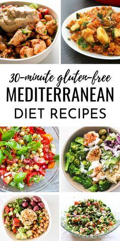 Paleo Crockpot Recipes, Best Healthy Dinner Recipes, Gluten Free Recipes For Dinner, Supper Recipes, Vegan Recipes, Mediterranean Diet Food List, Mediterranean Dishes, Paleo Diet For Beginners, Healthy Groceries