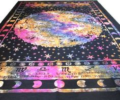 nice ASTROLOGY Horoscope Zodiac Tapestry Hippie Curtain Wall Hanging Indian Tapestry Throw Bedspread Bed Decor Sheet Ethnic Decorative Art