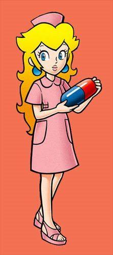 pink, dress, heart // Nurse Peach in Dr.Mario