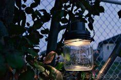 Luces solares hechos con tarros de cristal