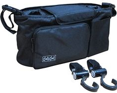Stroller Accessories - Stroller Organizer Bag + Stroller Hook - Use as Car Organizer or Small Diaper Bag - Universal, Fits Most Handlebar of Pram/Baby Buggy Brands Like Britax, Maclaren, Bob, Chicco and Jogger, Umbrella, Double or Travel System - Two Insulated Cup Holders - Black Console with Roomy Storage - Must-Have for Every Parent - Satisfaction Guaranteed, http://www.amazon.com/dp/B00J3EQ68E/ref=cm_sw_r_pi_awdm_9a0Xtb0HN5141