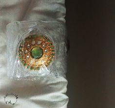 bracciale in lexan con bottone antico