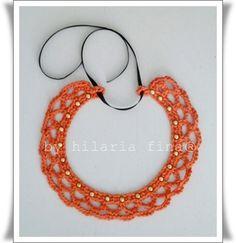Crochet studded necklace. 100% cotton.  https://www.facebook.com/hilaria.fina