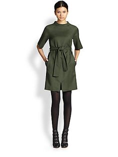 Marc by Marc Jacobs Junko Belted Wool Dress