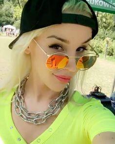 Mirrored Sunglasses, Sunglasses Women, Warsaw Poland, Perfect Nails, Rwby, Polish, Singer, Long Hair Styles, Instagram Posts