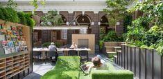 Muziek luisterbedden in de Korenbeurs – Schiedam Atrium, Outdoor Furniture Sets, Outdoor Decor, Indoor Garden, Patio, Inspiration, Libraries, Design, Home Decor