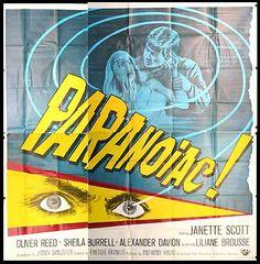 Paranoiac movie poster (1963)