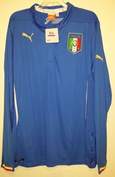 NEW Puma FIGC Italia Home Soccer Jersey Mens 2XL XXL Italy National Team 744290 #Puma #Italy