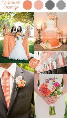 Cadmium Orange Pantone Pallet 2015 θέματα γάμου από το Confetti Bar,Τήνος .