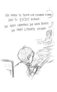 Page 14 of Neil Gaiman and Chris Riddell's book Art Matters. ART MATTERS by Neil Gaiman, illustrated by Chris Riddell is published by Headline on September Bookworm Quotes, Library Quotes, Book Quotes, Library Memes, Library Wall, Writer Quotes, Library Ideas, True Quotes, I Love Books