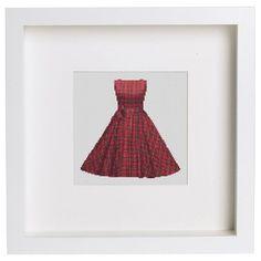 0 point de croix robe rouge tartan - cross stitch red tartan dress