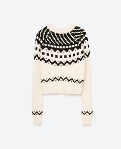 Image 8 of CROPPED JACQUARD SWEATER from Zara