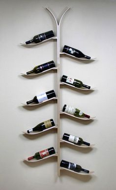 American consumers are celebrating more often with a bottle of wine. More wine means more wine racks. More wine rack production means more waste, higher carbon footprint… Décor Ski, Ski Chalet, Wine Bottle Trees, Wine Tree, St Anton, Ski Rack, Ski Decor, Home Decor, Snow Skiing
