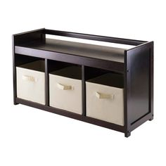 Have to have it. Winsome Addison 4 pc. Storage Bench with 3 Fabric Foldable Baskets - $134.07 @hayneedle