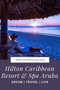 Hilton Caribbean Resort and Spa in Aruba - Review and Photos - Get the lowdown on this beautiful hotel in the Caribbean. Find out what the rooms are like, take a peek inside the spa, and learn more about this island just off of South America. #vacations #aruba #holiday #caribbean #instagram #photography