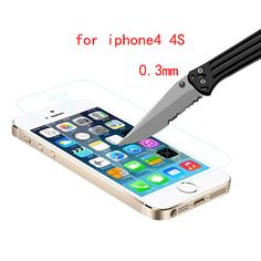 10pcs/lot protective glass for iPhone 5 Premium Tempered Glass on the iPhone4s 5s film Screen Protector for iphone 5s glass