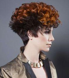 Cortes de pelo rizado corto para mujeres 2014: fotos de los peinados (34/42) | Ellahoy