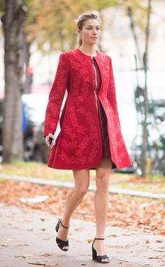 Jessica Hart from Street Style at Paris Fashion Week Spring 2016 | E! Online