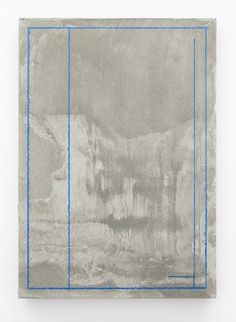 Toby Christian Plan (spine) 2015 Coloured pencil on scratched concrete 29.7 x 21 x 1 cm / 11 3/4 x 8 1/4 x 3/8 in