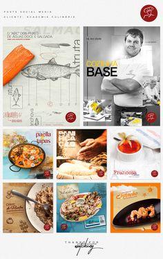 Posts temáticos desenvolvidos para Academia Culinária
