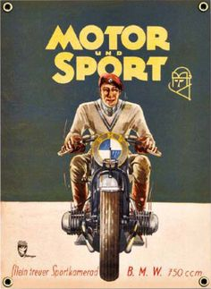 Vintage BMW Poster from Petrolicious