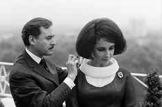 The man responsible for most of Liz Taylor's bad hairstyles, Alexandre Of Paris.