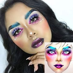 """4,596 Likes, 9 Comments - Sergey X (@milk1422) on Instagram: """"#artistmilk1422 #artist @cakedfacegal ✨ This girl has made amazing makeup and very cool photo …"""""""
