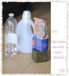 LA lessive naturelle super efficace à fabriquer soi-même. Après avoir essayé plein de recettes,voici ENFIN la bonne! Vous n'avez besoin que de 3 ingrédients