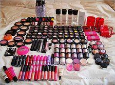i think i would die of happiness with all of this MAC makeup! Mac Makeup, Love Makeup, Skin Makeup, Makeup Tips, Makeup Looks, Makeup Ideas, Awesome Makeup, Makeup Stuff, Flawless Makeup