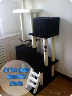 Cat Tree DIY Tutorial – Making HomeMade Cat Tree