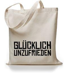 Jutebeutel Glücklich Unzufrieden // totebag by Kane Grey via DaWanda.com