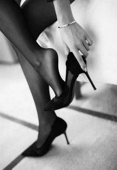 Stockings Heels, Nylons Heels, Sexy Heels, Stiletto Heels, Dark Photography, Black And White Photography, High Heels Boots, Black And White Heels, Boudoir Photos