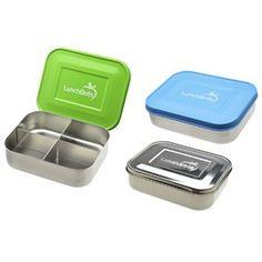 Broodtrommel RVS Quad vier vakjes : LunchBots, Lunchbox met vier vakjes