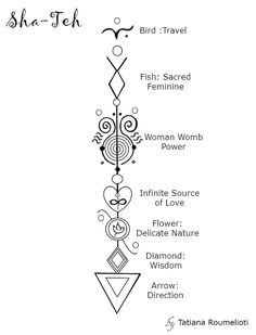 '' Sha-Teh '' An Arrow Code that came to me after meditating on the words: ''Female power'' & ''Travel''.