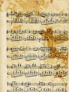 vintage music collage sheet