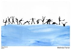 Sea Dance - In creative movement, there is an ocean of possibilities.   (ink, watercolor)